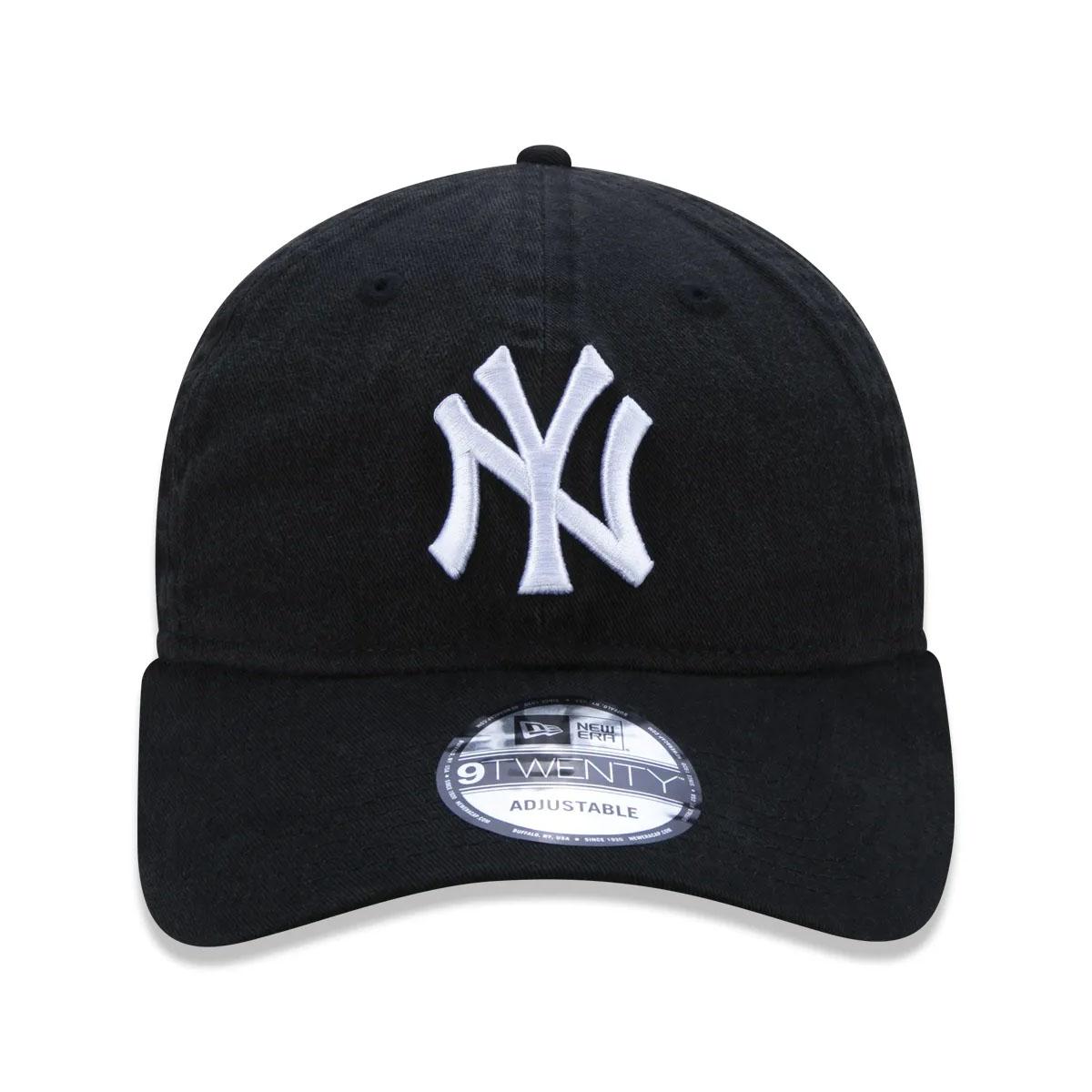 Boné Yankees 9Twenty New Era Preto com Logo Branco