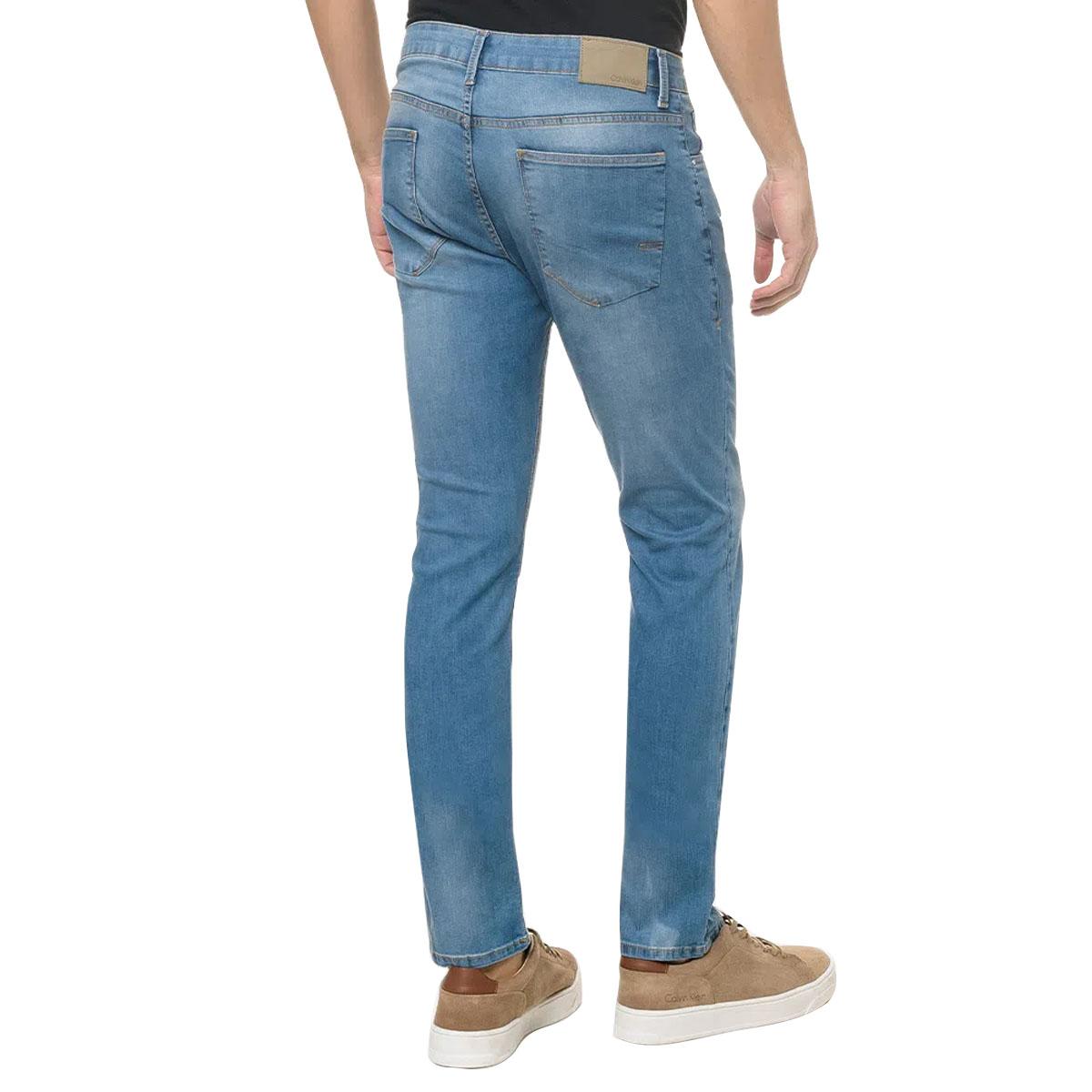 Calça Jeans Calvin Klein Five Pockets Skinny Azul Claro