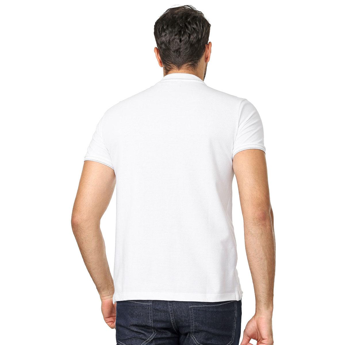 Camisa Polo Calvin Klein Regular Branca