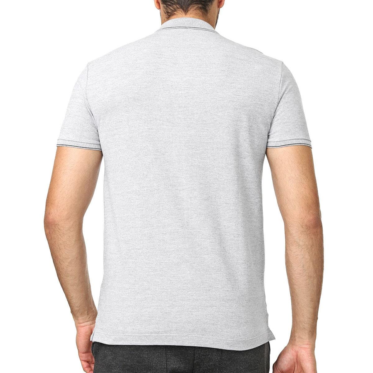 Camisa Polo Calvin Klein Regular Cinza