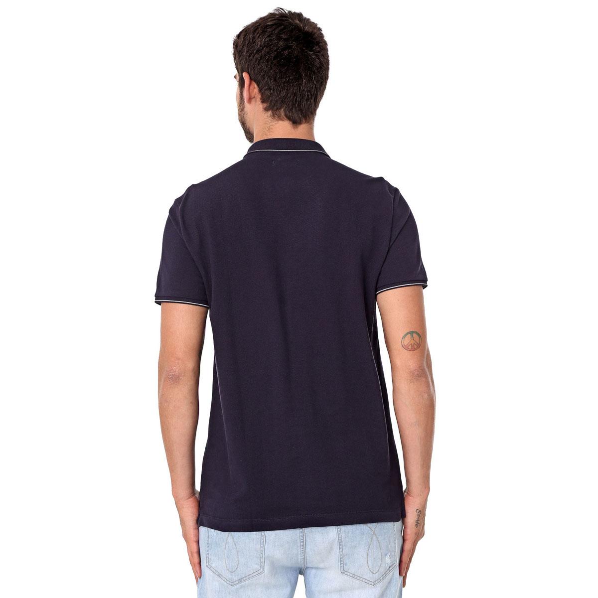 Camisa Polo Calvin Klein Regular Marinho
