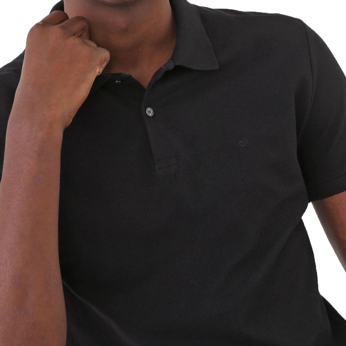 Camisa Polo Calvin Klein Regular Preta