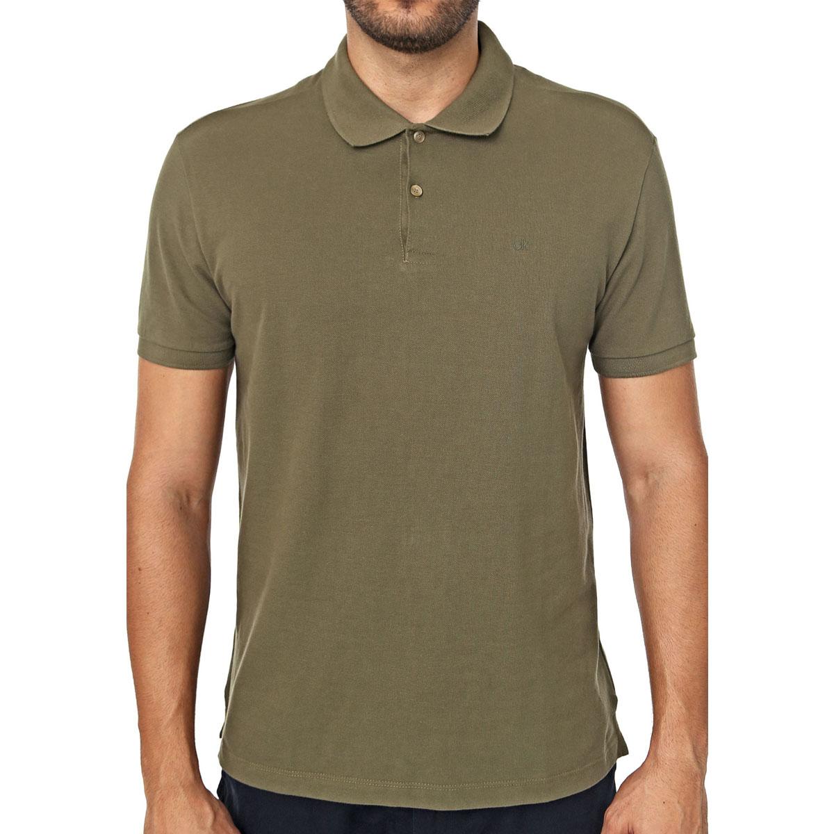 Camisa Polo Calvin Klein Regular Verde