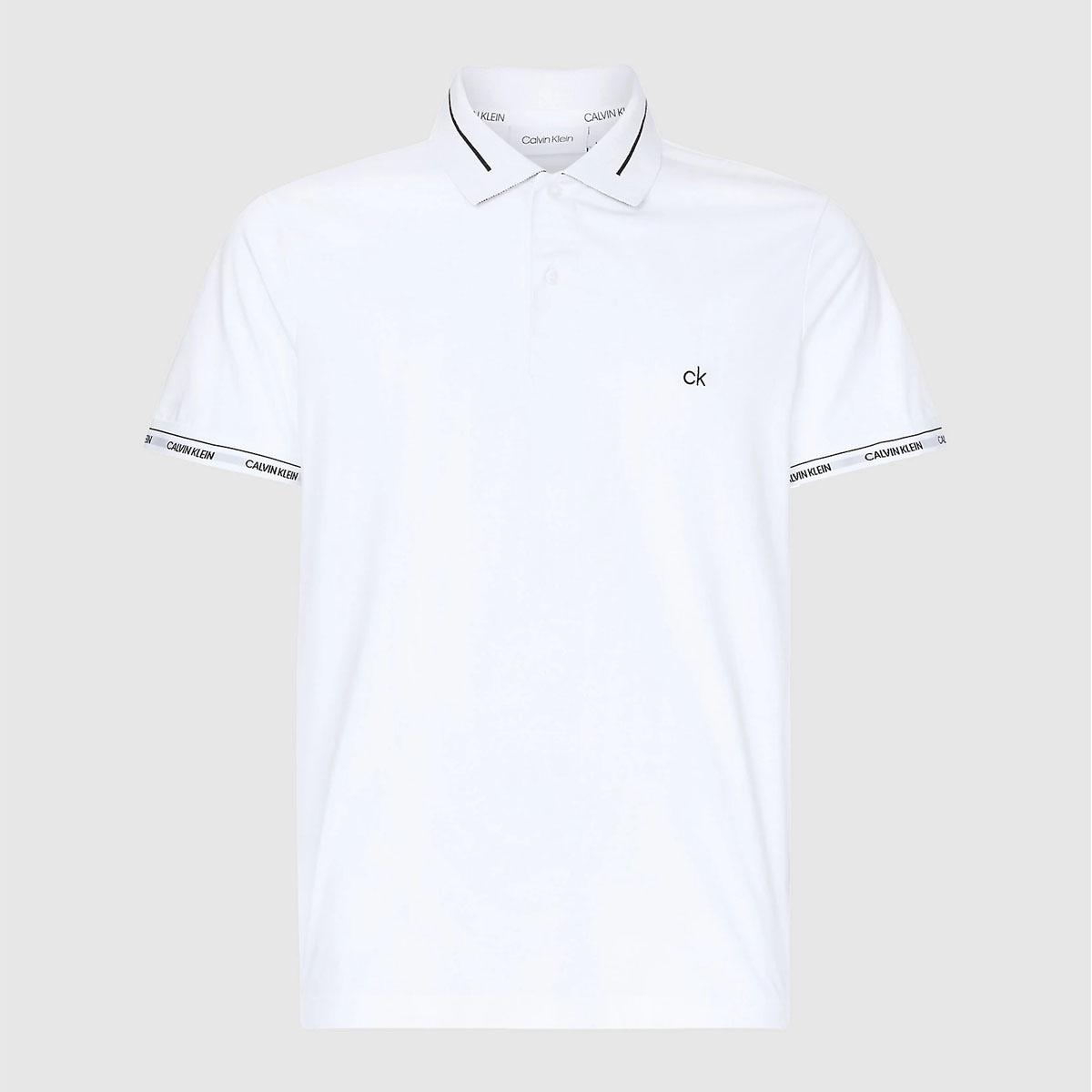 Camisa Polo Calvin Klein Slim Fit Branco