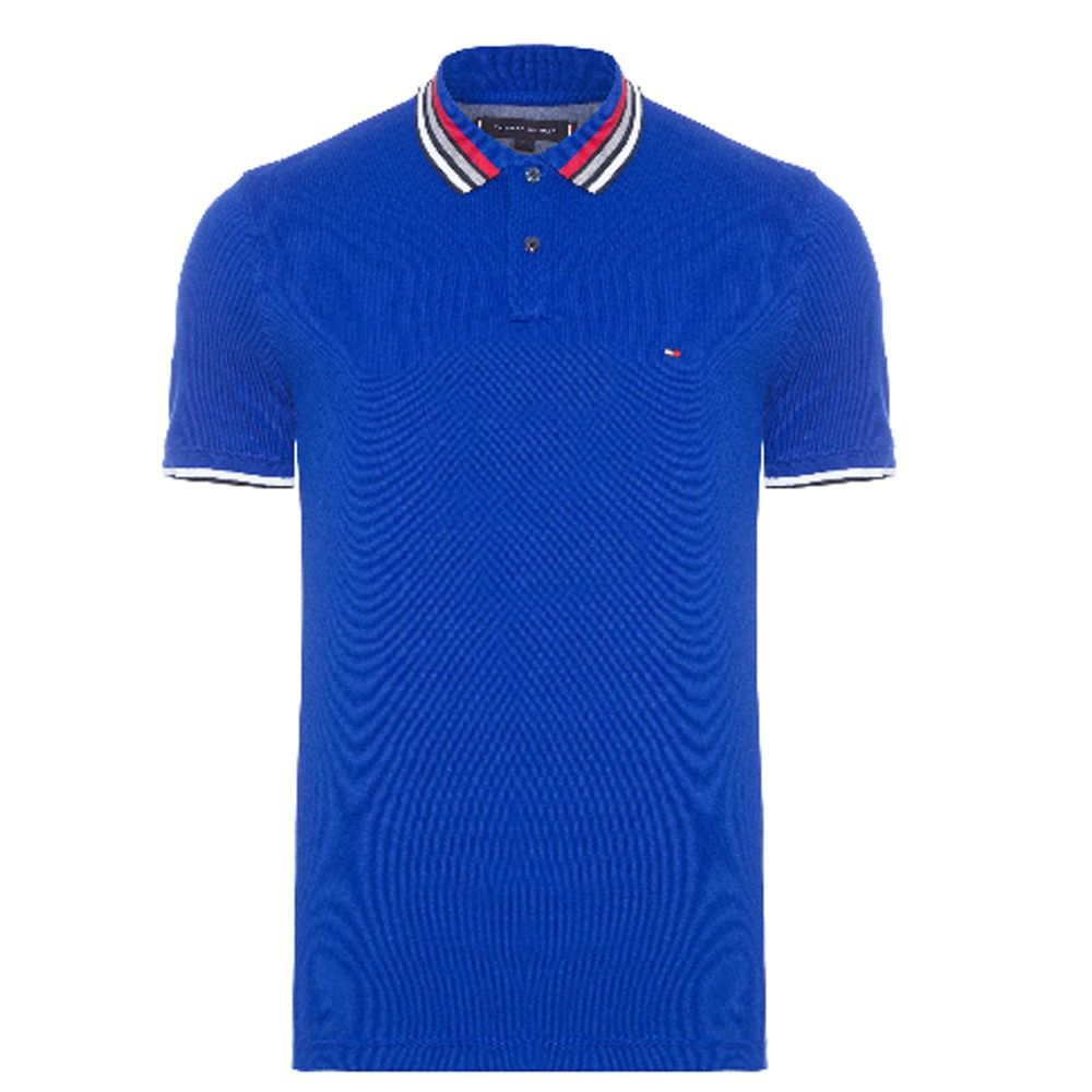 Camisa Polo Tommy Hilfiger Masculina Contrast Tipped