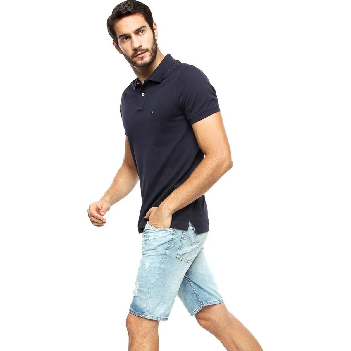 Camisa Polo Tommy Hilfiger Regular Marinho