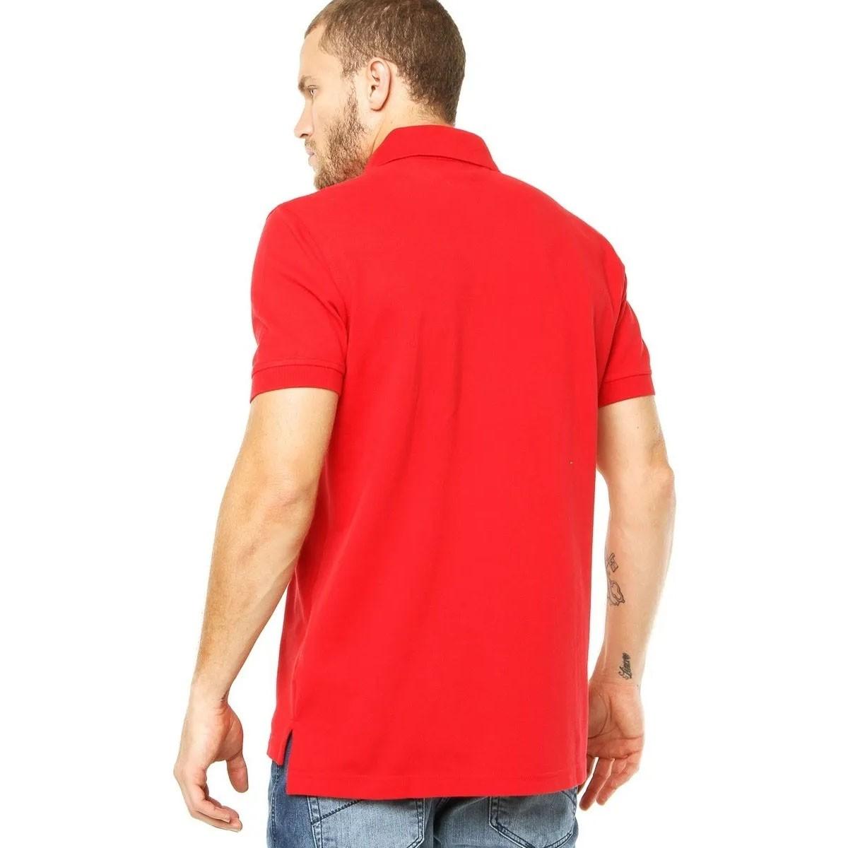 Camisa Polo Tommy Hilfiger Regular Vermelho