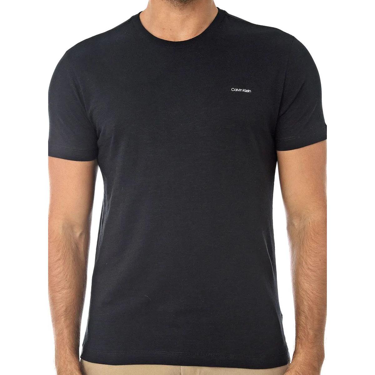 Camiseta Calvin Klein Masculina Básica Preta Mini Logo