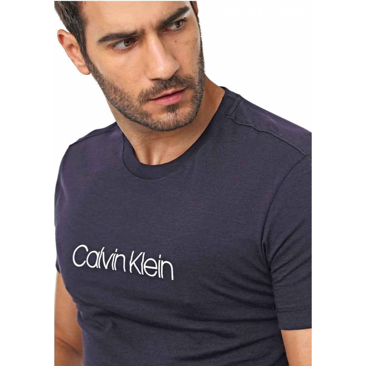 Camiseta Calvin Klein Masculina Flame Azul Marinho