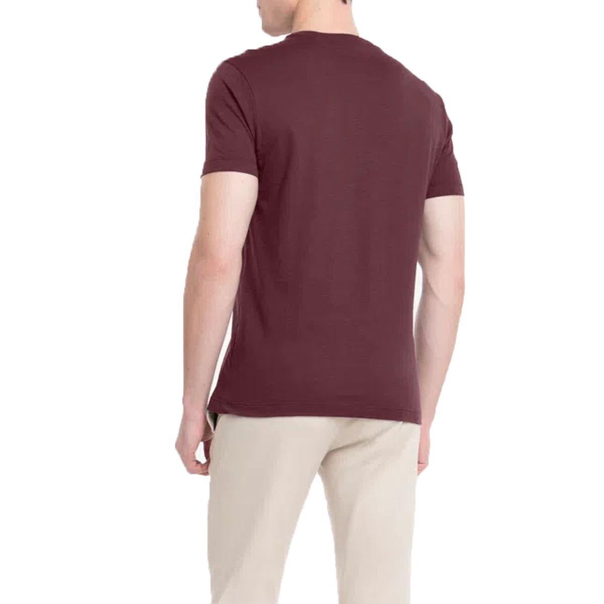 Camiseta Calvin Klein Masculina Flame Bordo