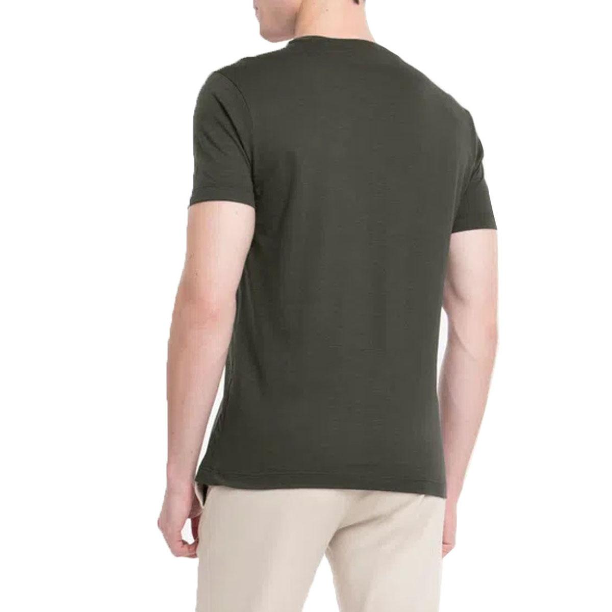 Camiseta Calvin Klein Masculina Flame Verde Mini Logo