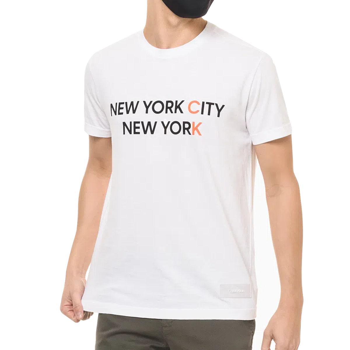 Camiseta Calvin Klein MC Slik New York City Branca