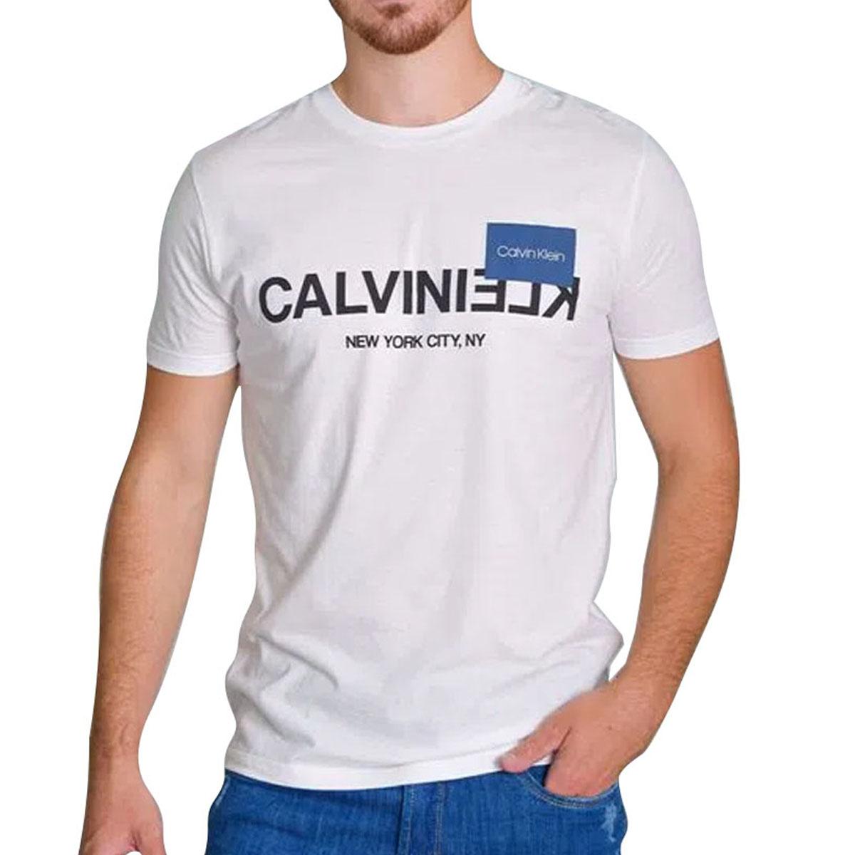 Camiseta Calvin Klein MC Slim Silk NY Branco
