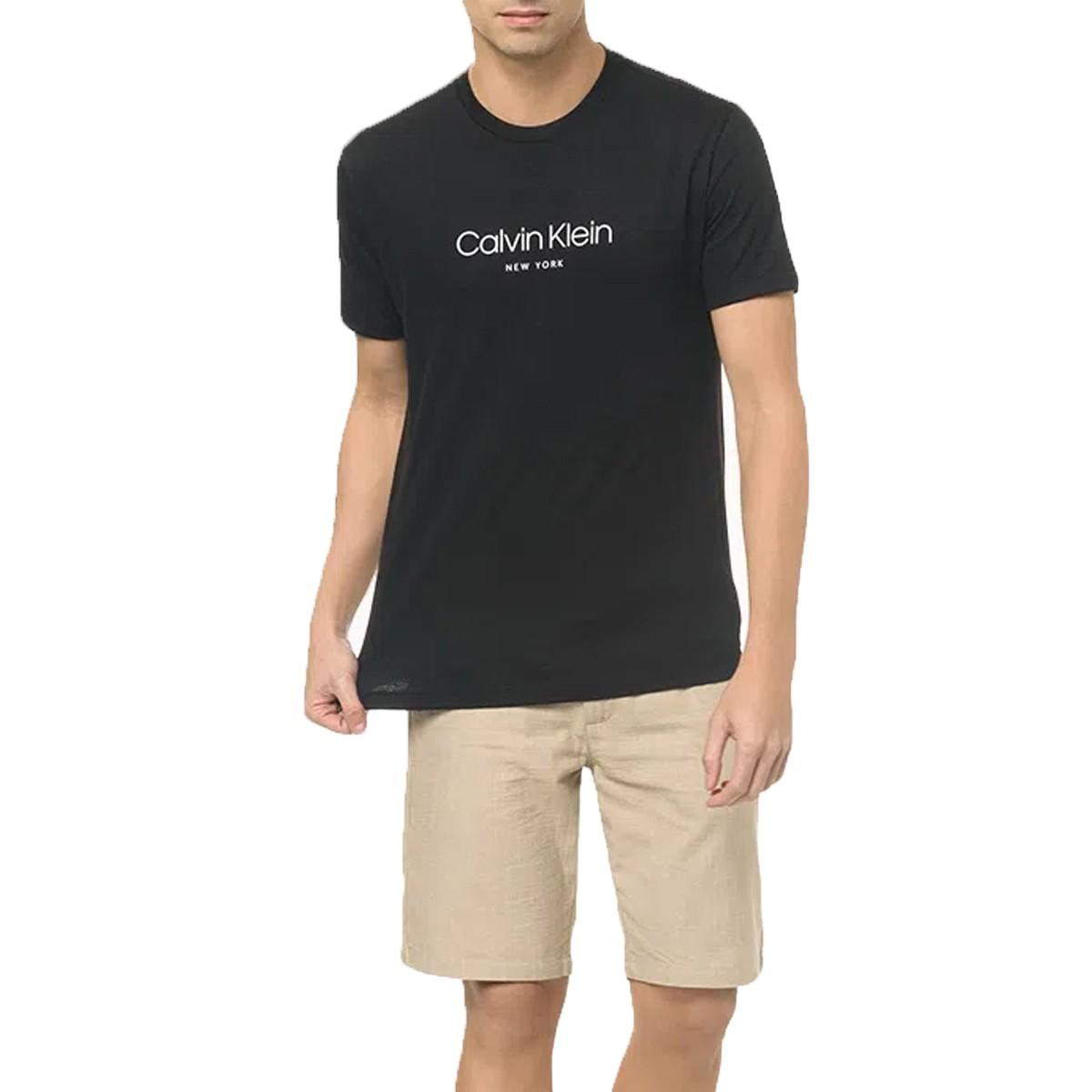 Camiseta Calvin Klein NY Flamê Preta