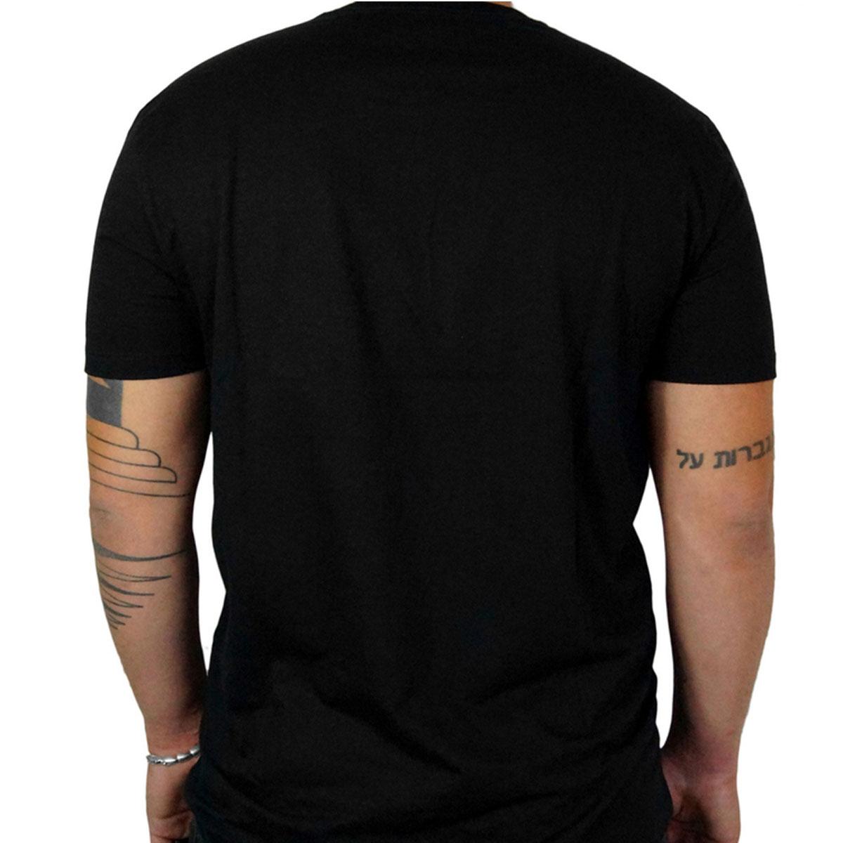 Camiseta Calvin Klein Slim Institucional com Bolso Preta
