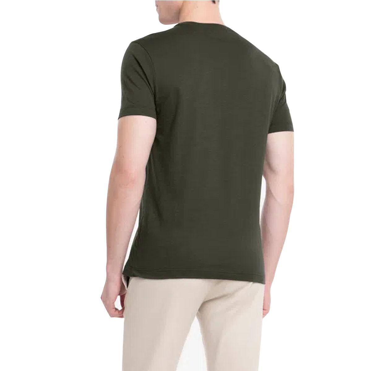 Camiseta Calvin Klein Slim Institucional Flag Verde Escuro
