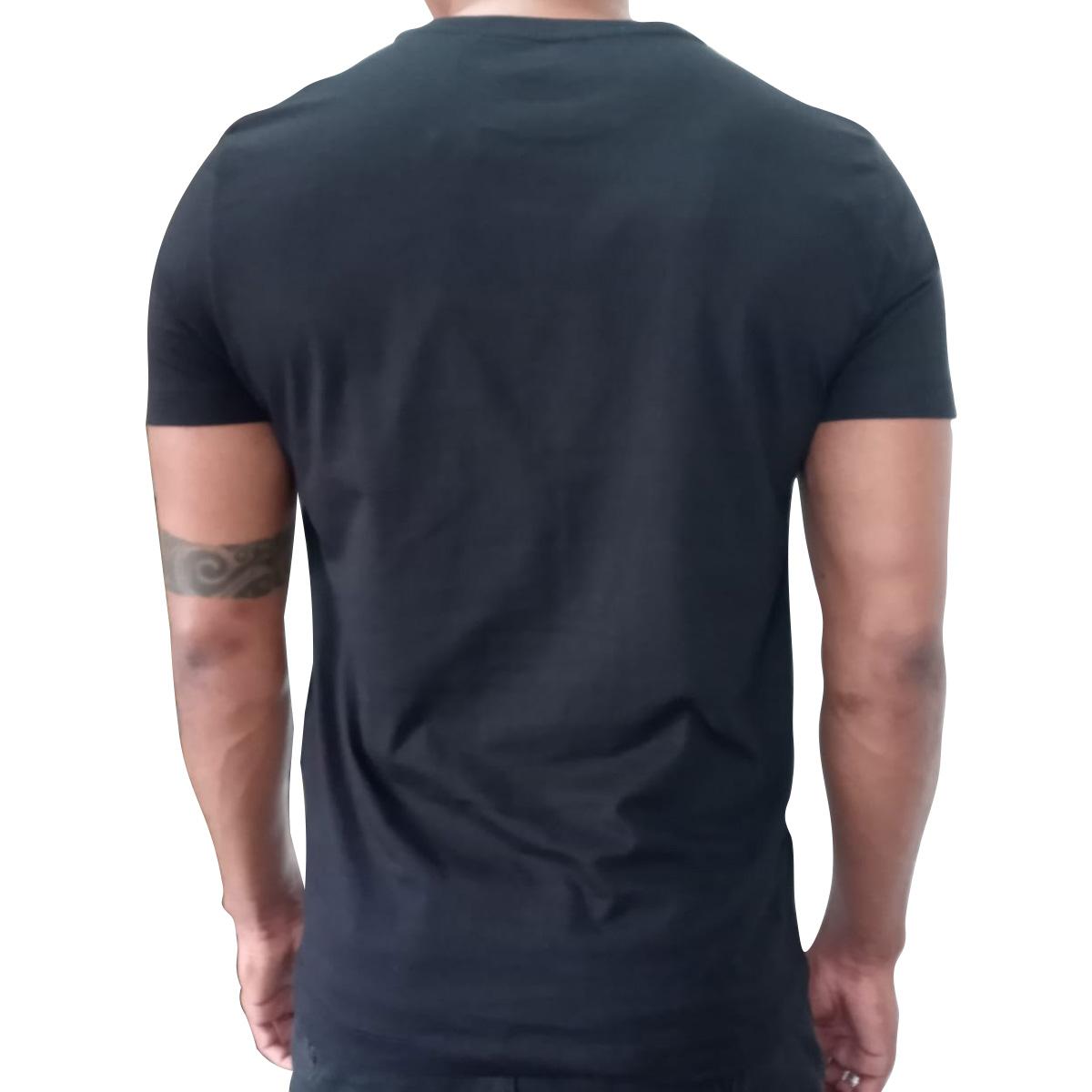 Camiseta Calvin Klein Slim Silk Logo Palma Preto