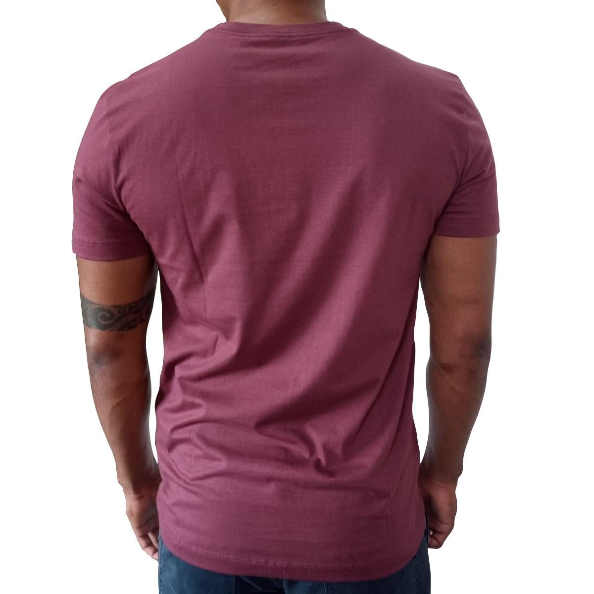 Camiseta Calvin Klein Slim Underline Bordo