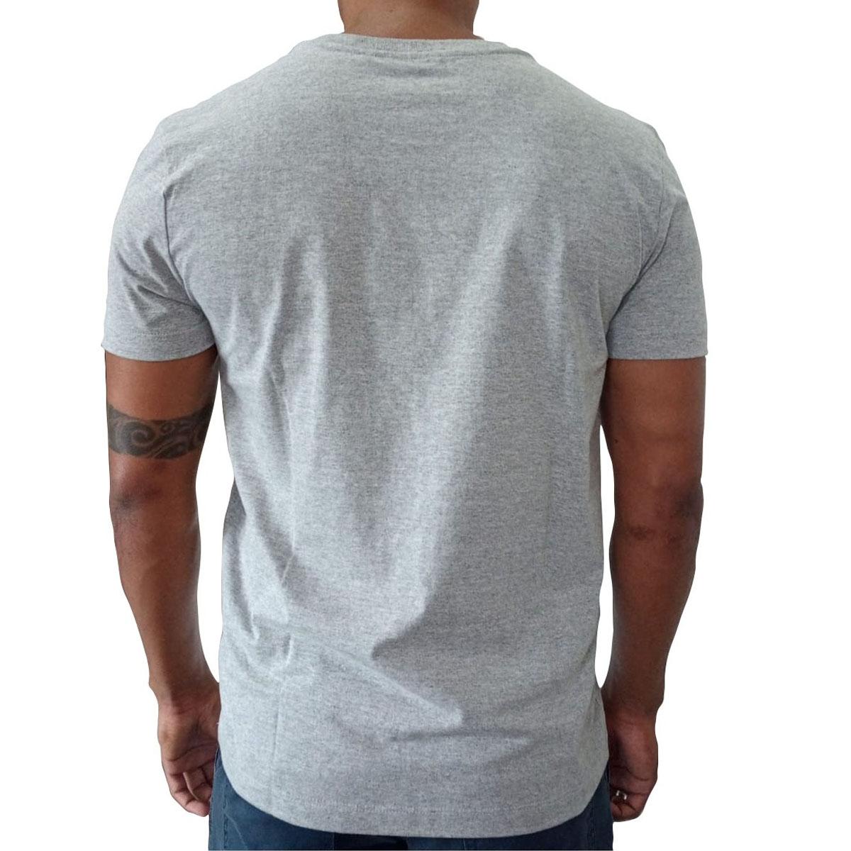 Camiseta Calvin Klein Slim Underline Cinza