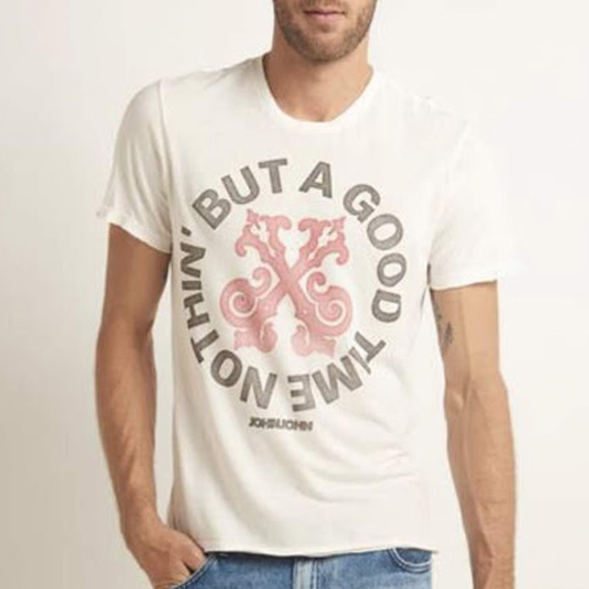 Camiseta John John Masculina Bege