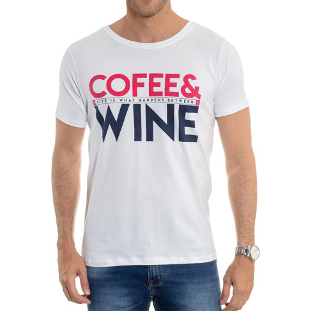Camiseta Red Feather Masculina Cofee & Wine