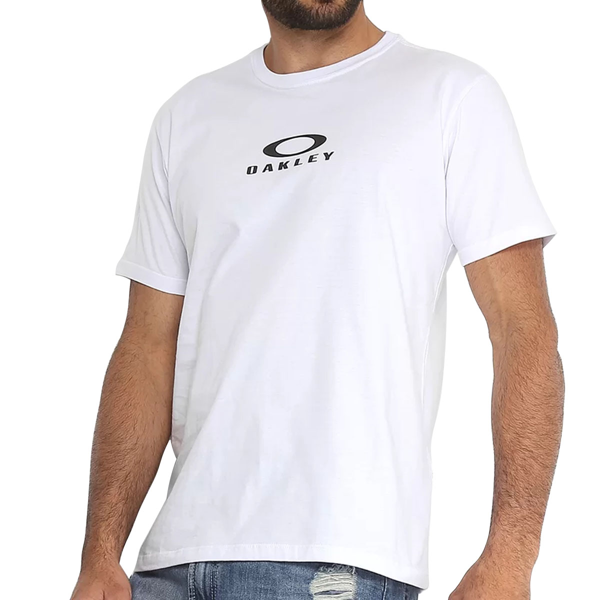 Camiseta Oakley  Masculina Bark New Tee Branco