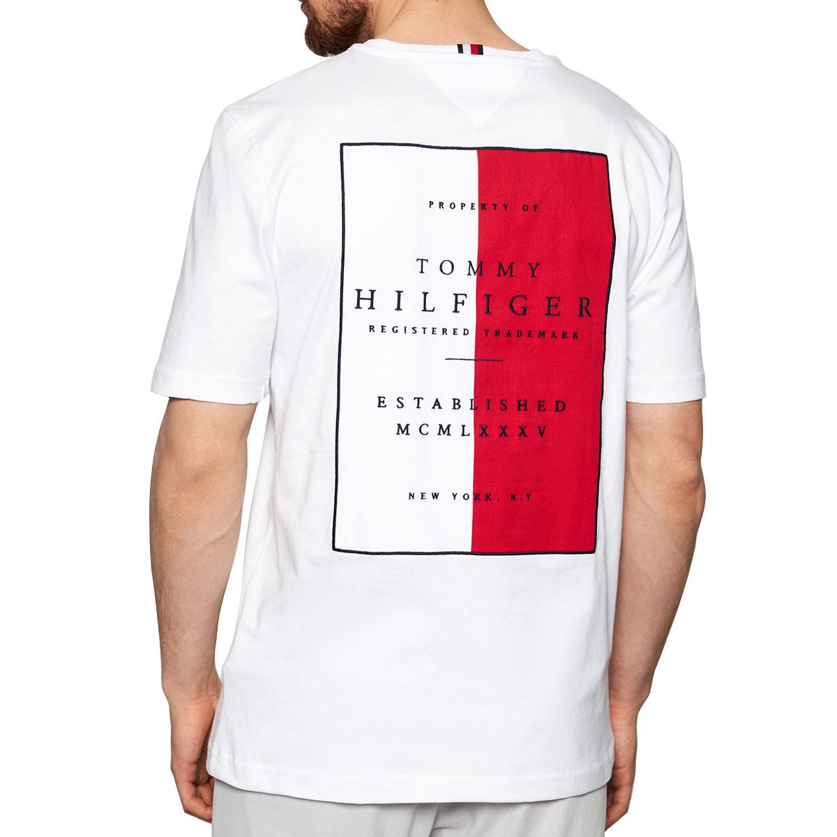 Camiseta Tommy Hilfiger Back Patch Tee Branco