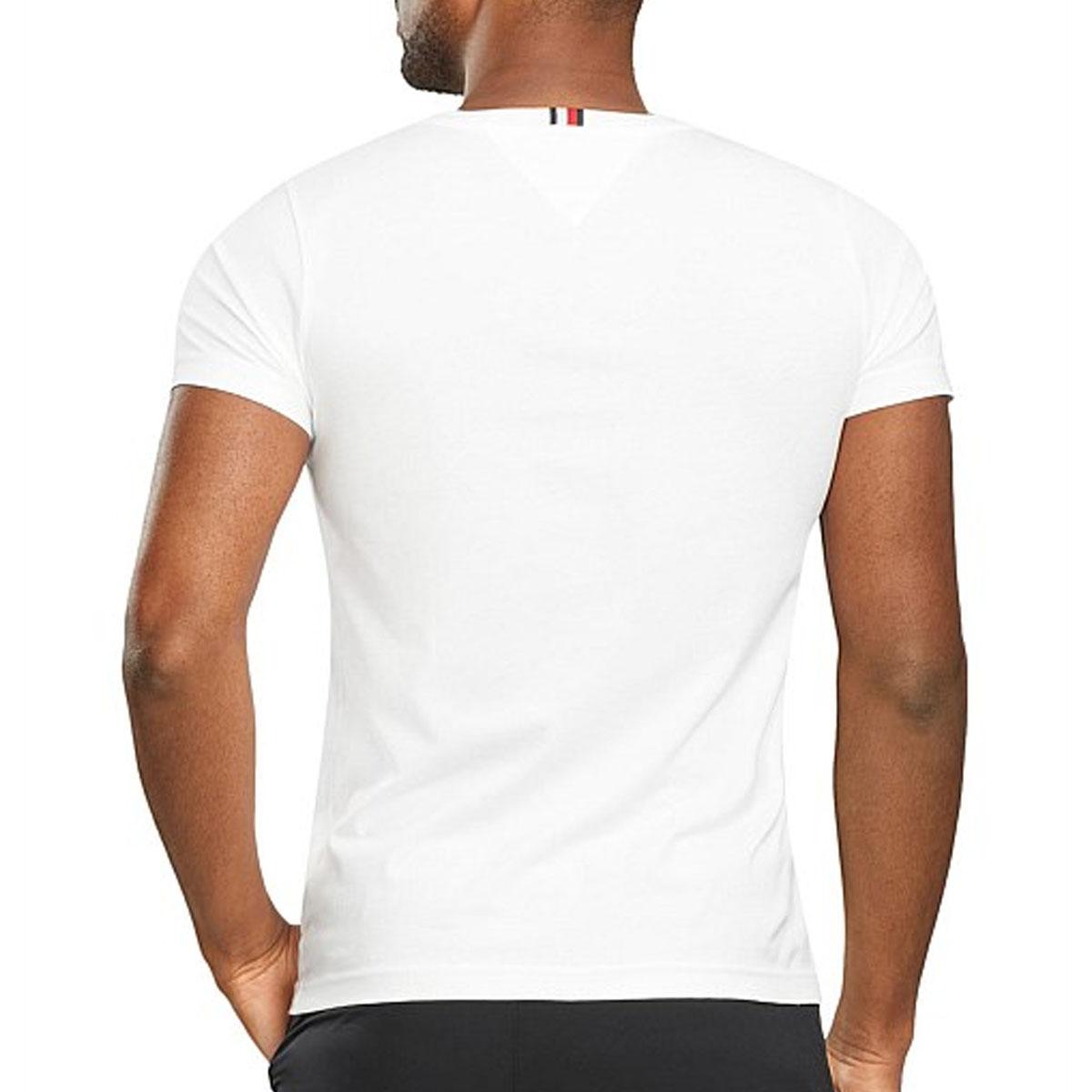 Camiseta Tommy Hilfiger Colorblock Tee Branco