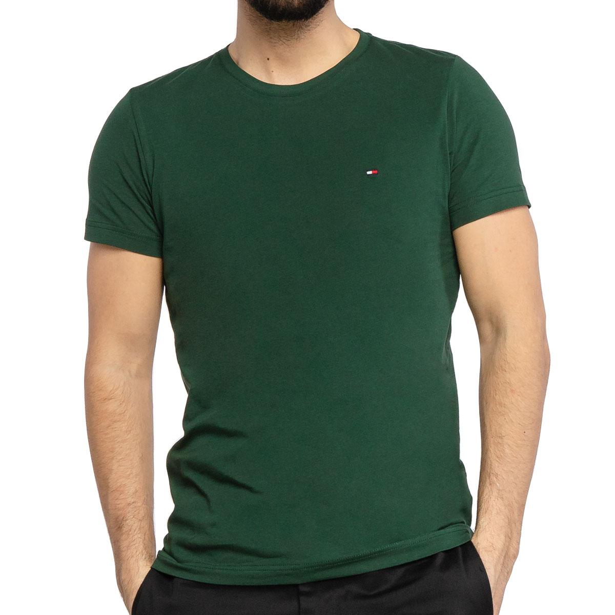Camiseta Tommy Hilfiger Essential Cotton Tee Verde