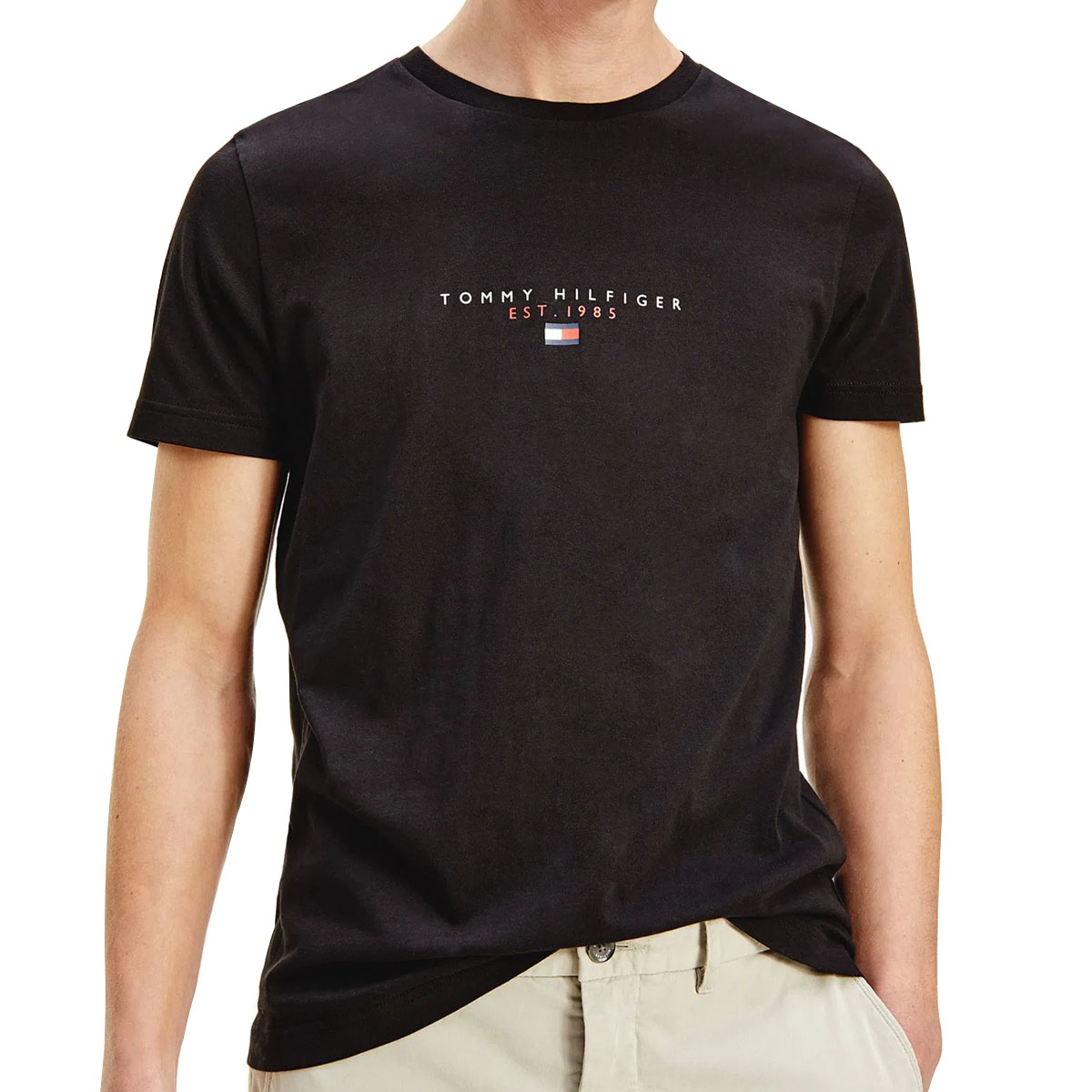 Camiseta Tommy Hilfiger Essential Tee Preto