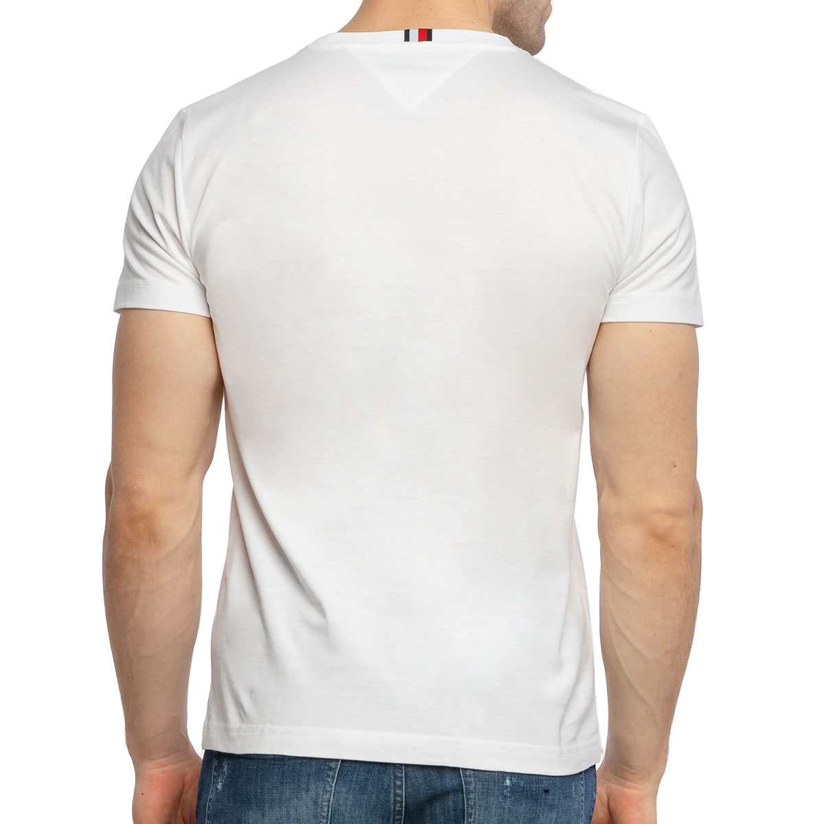 Camiseta Tommy Hilfiger Flag Bordado Branco