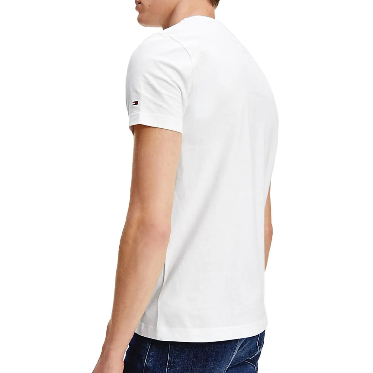 Camiseta Tommy Hilfiger Global Stripe Chest Branco