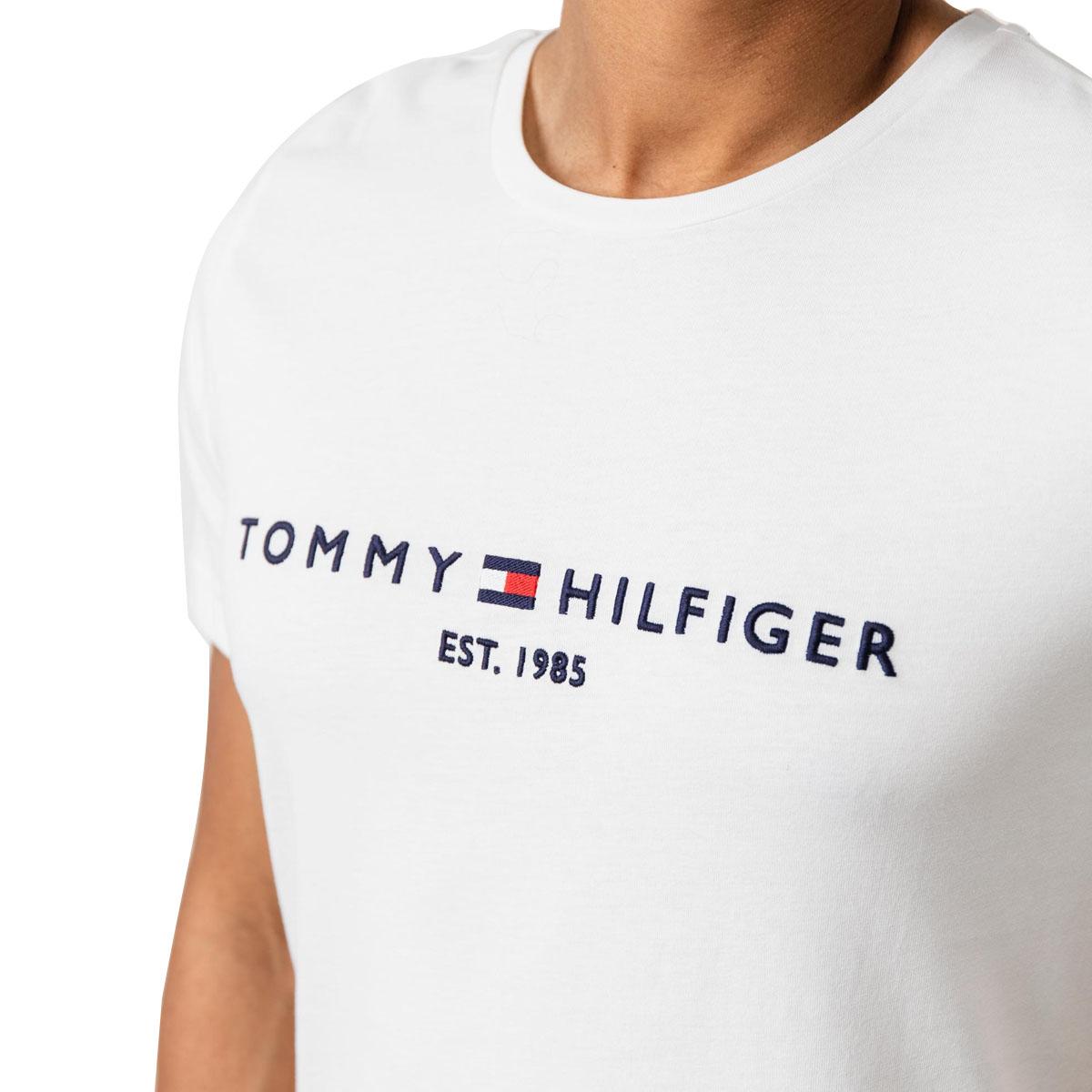 Camiseta Tommy Hilfiger Logo Tee Branca
