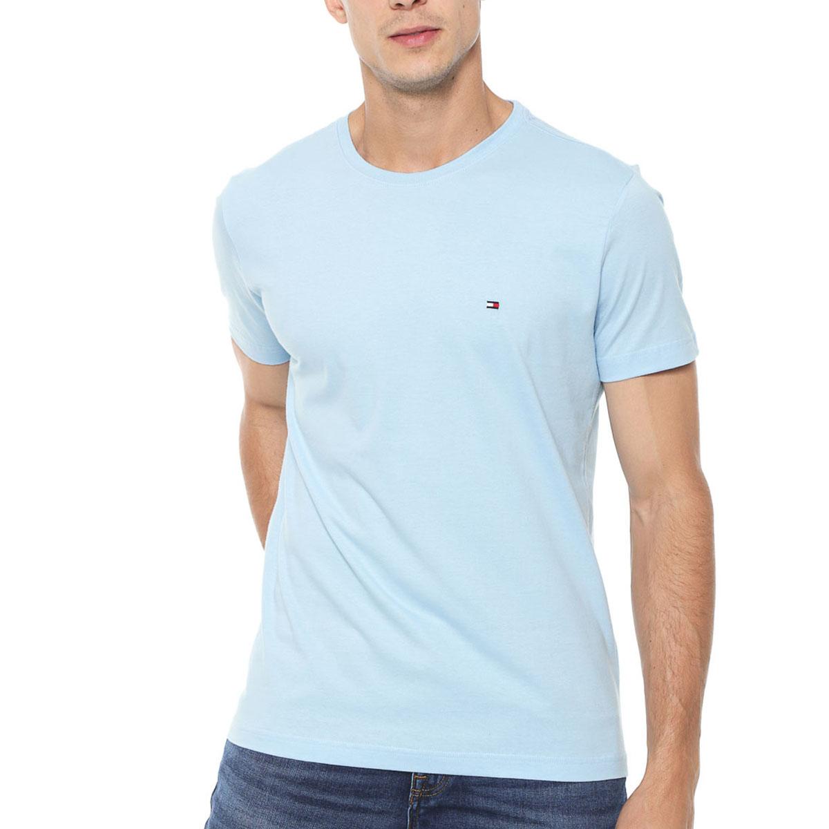 Camiseta Tommy Hilfiger Regular Essential Azul Claro