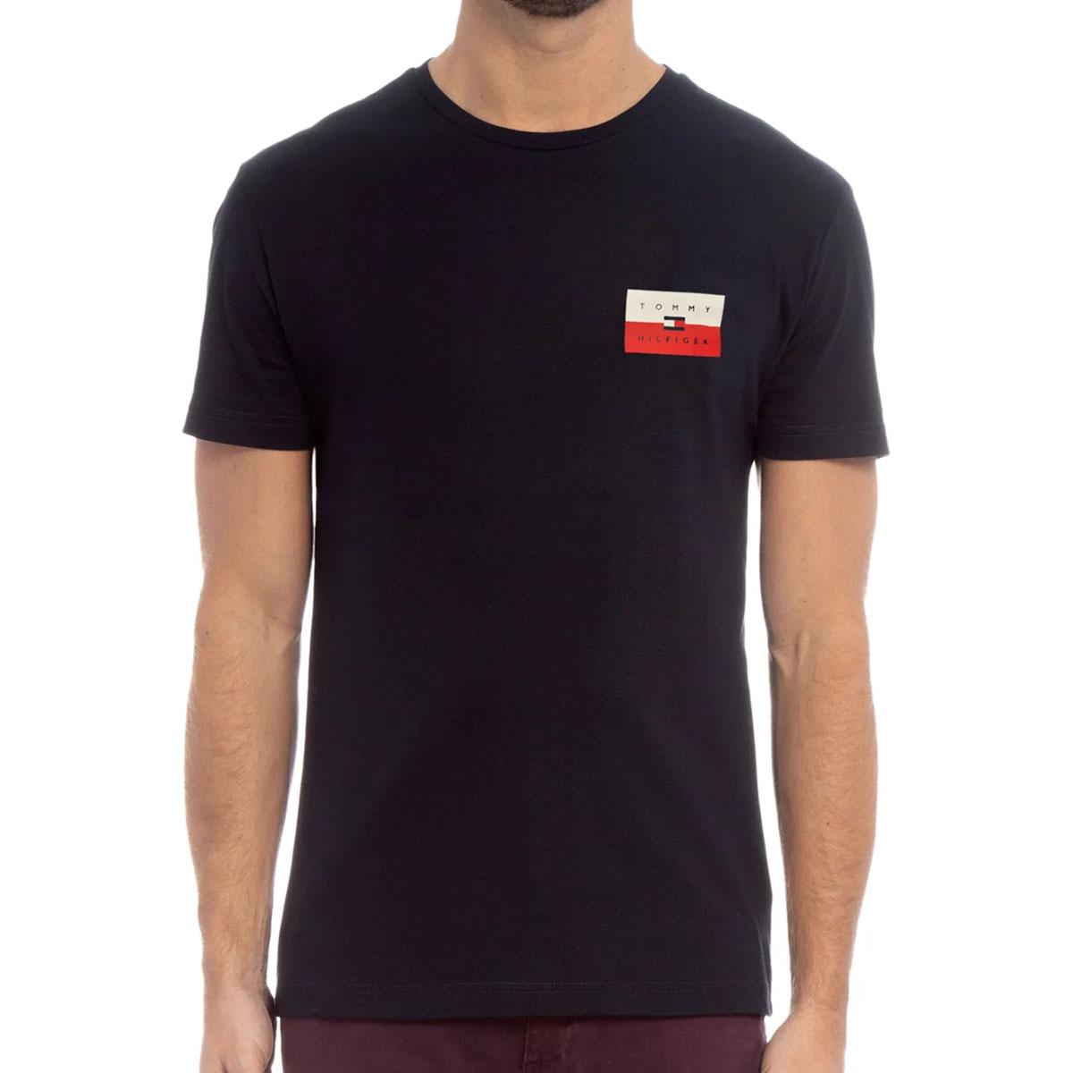Camiseta Tommy Hilfiger Small Chest Box Azul Marinho