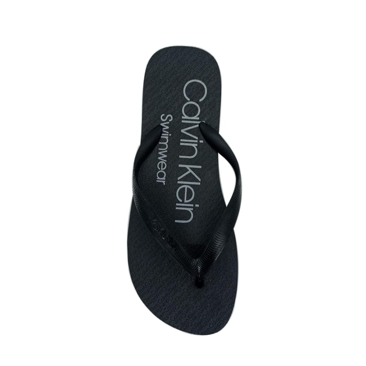 Chinelo Calvin Klein Swimwear Masculino Preto