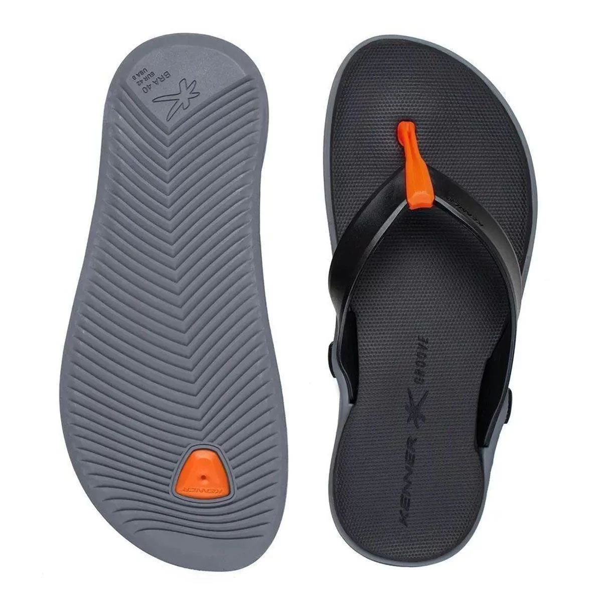 Chinelo Kenner Masculino Groove Sport Cinza