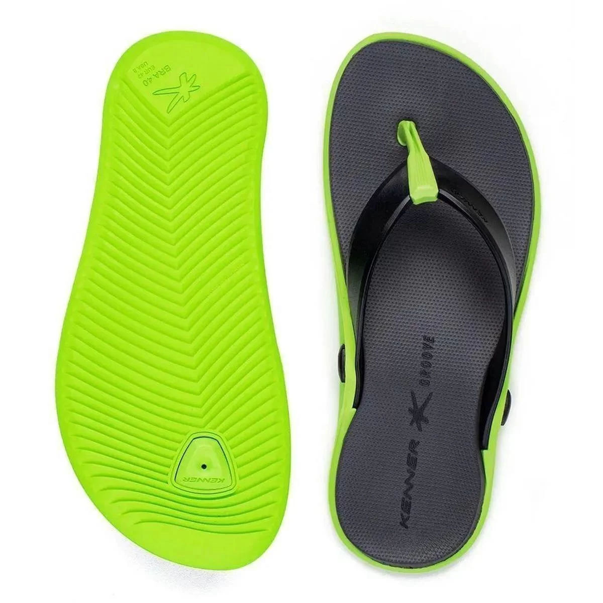 Chinelo Kenner Masculino Groove Sport Verde
