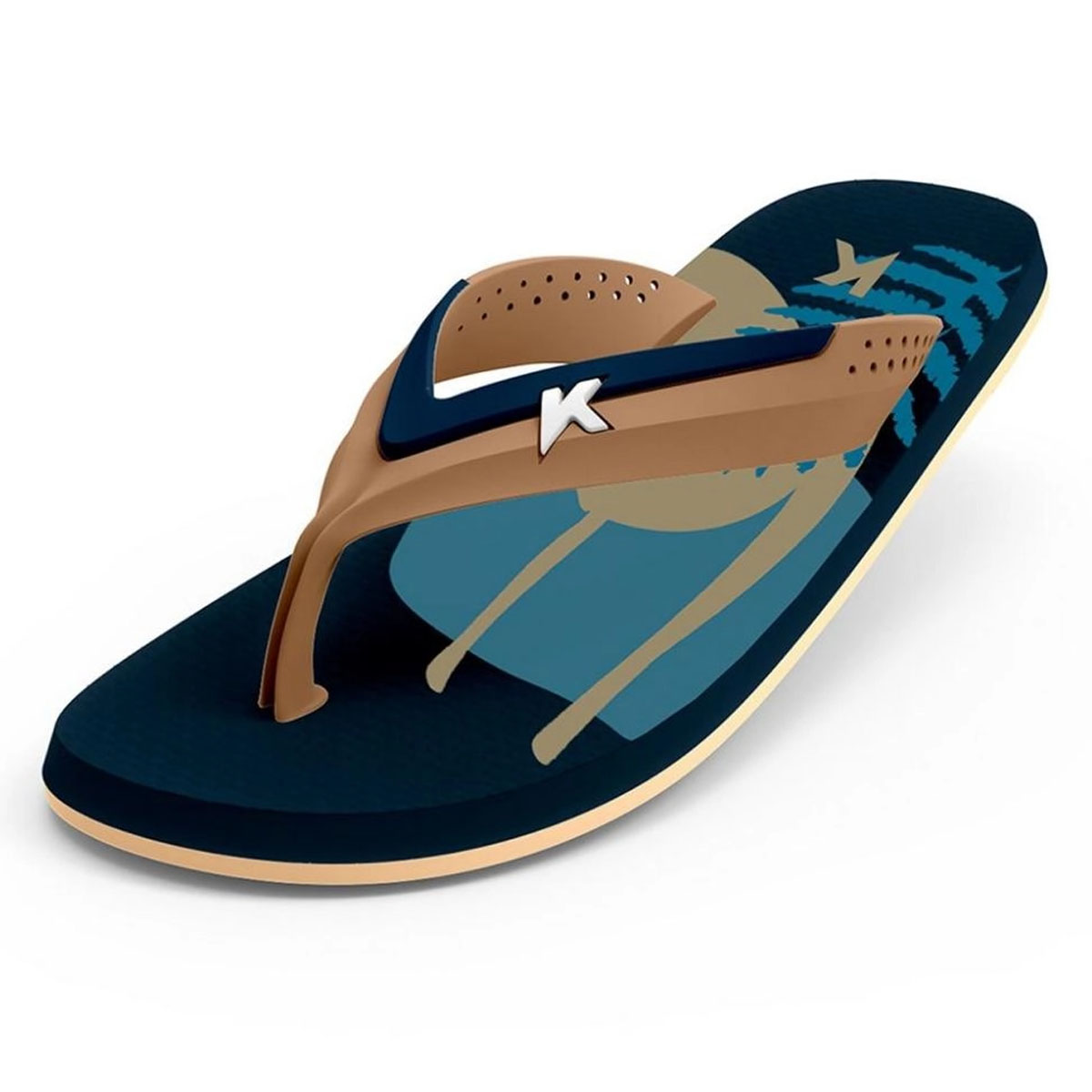 Chinelo Kenner Masculino Hi-Tide Abstract Azul