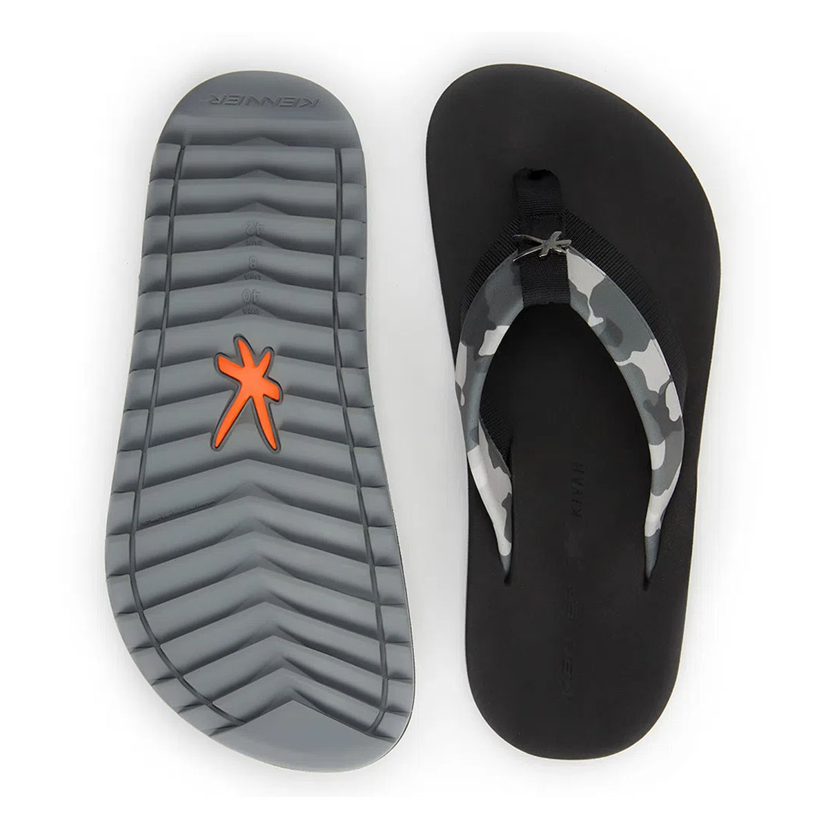 Chinelo Kenner Masculino Kivah Cover Army Cinza