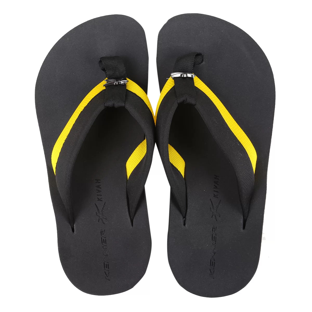 Chinelo Kenner Masculino Kivah Cover Highlight Amarelo
