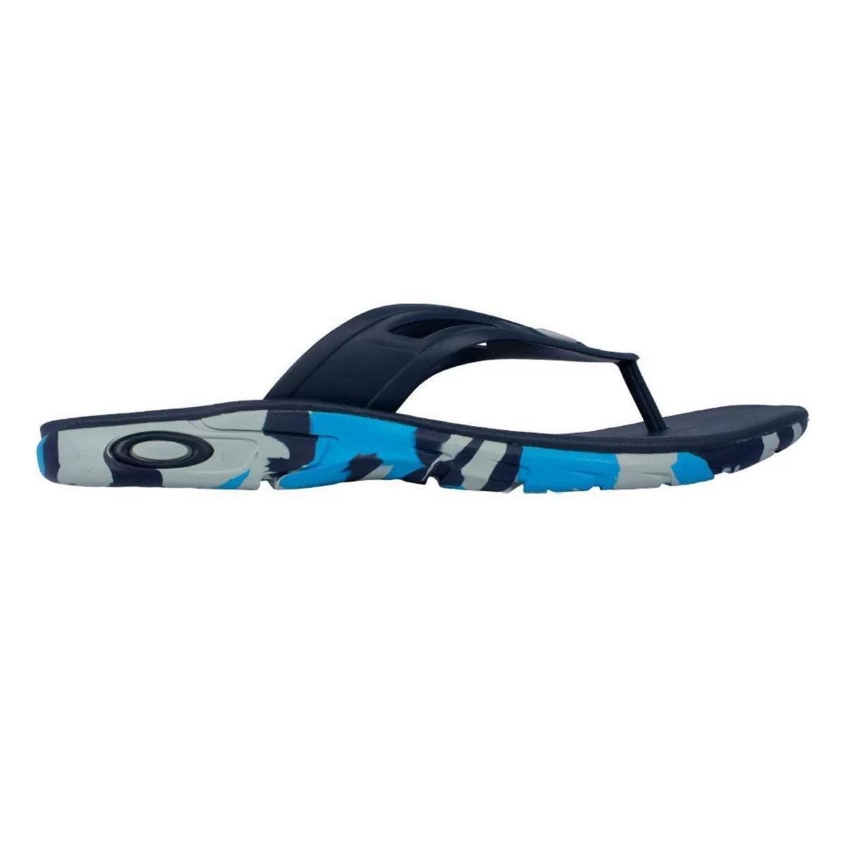 Chinelo Oakley Rest Camo Masculino Azul Camuflado