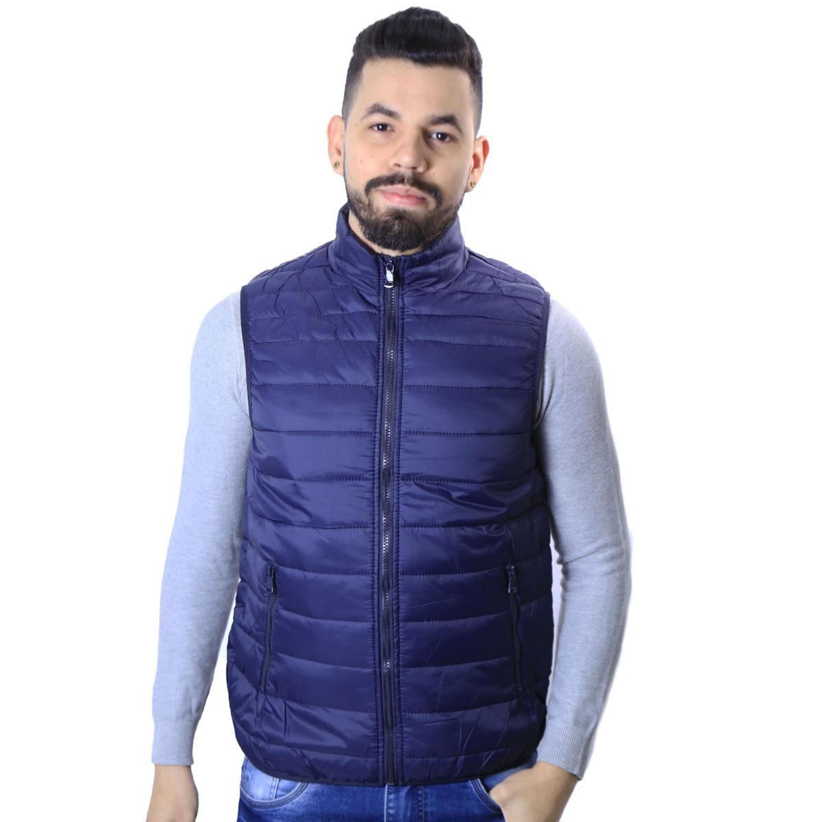 Colete Puffer Agricio Masculino Azul