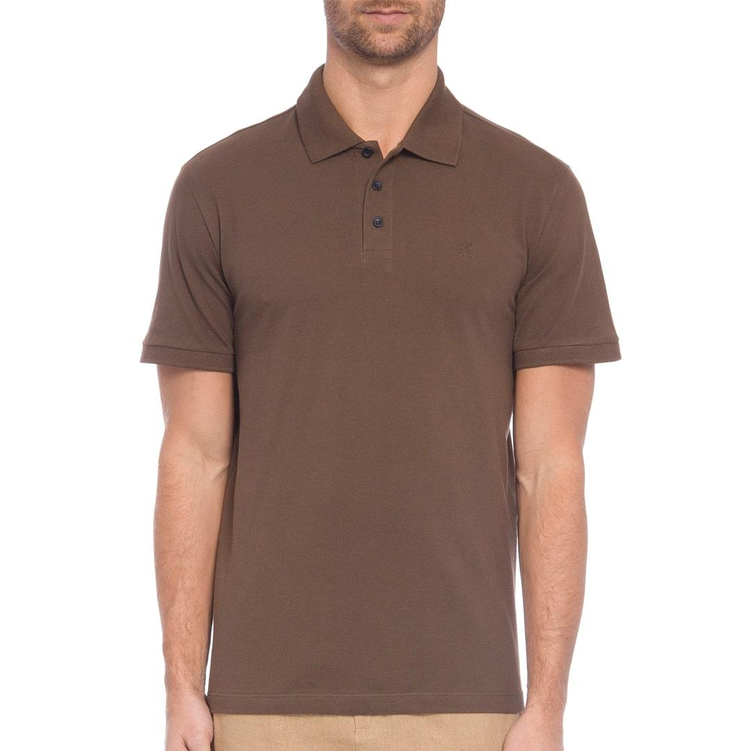 Camisa Polo John John Simple Basic Marrom