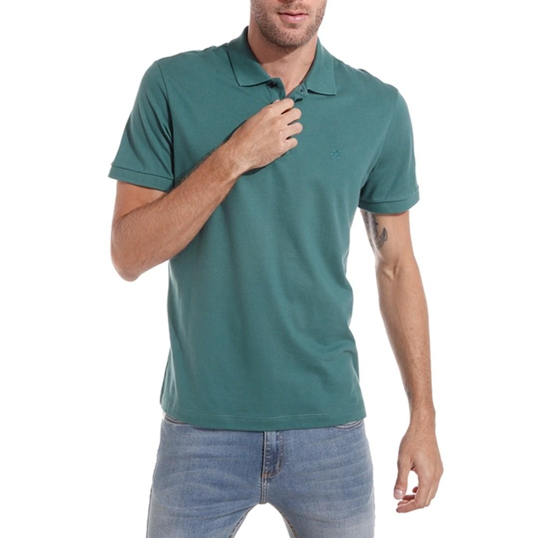 Camisa Polo John John Simple Basic Petróleo