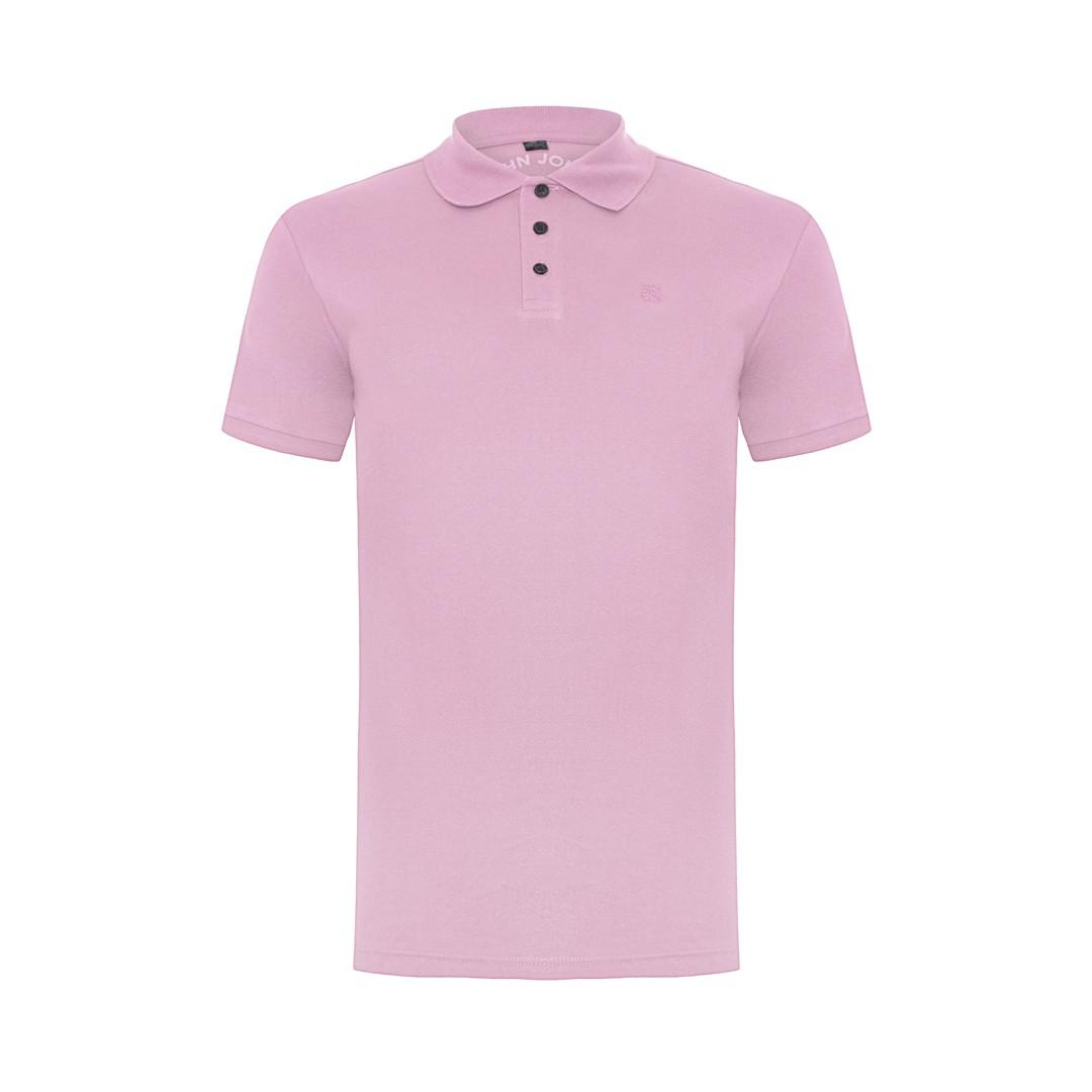 Camisa Polo John John Simple Basic Rosa