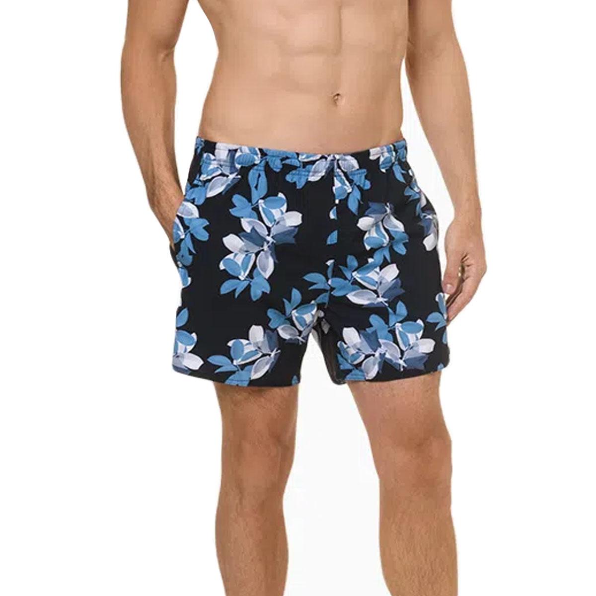 Shorts Calvin Klein Estampado Folhas Azul