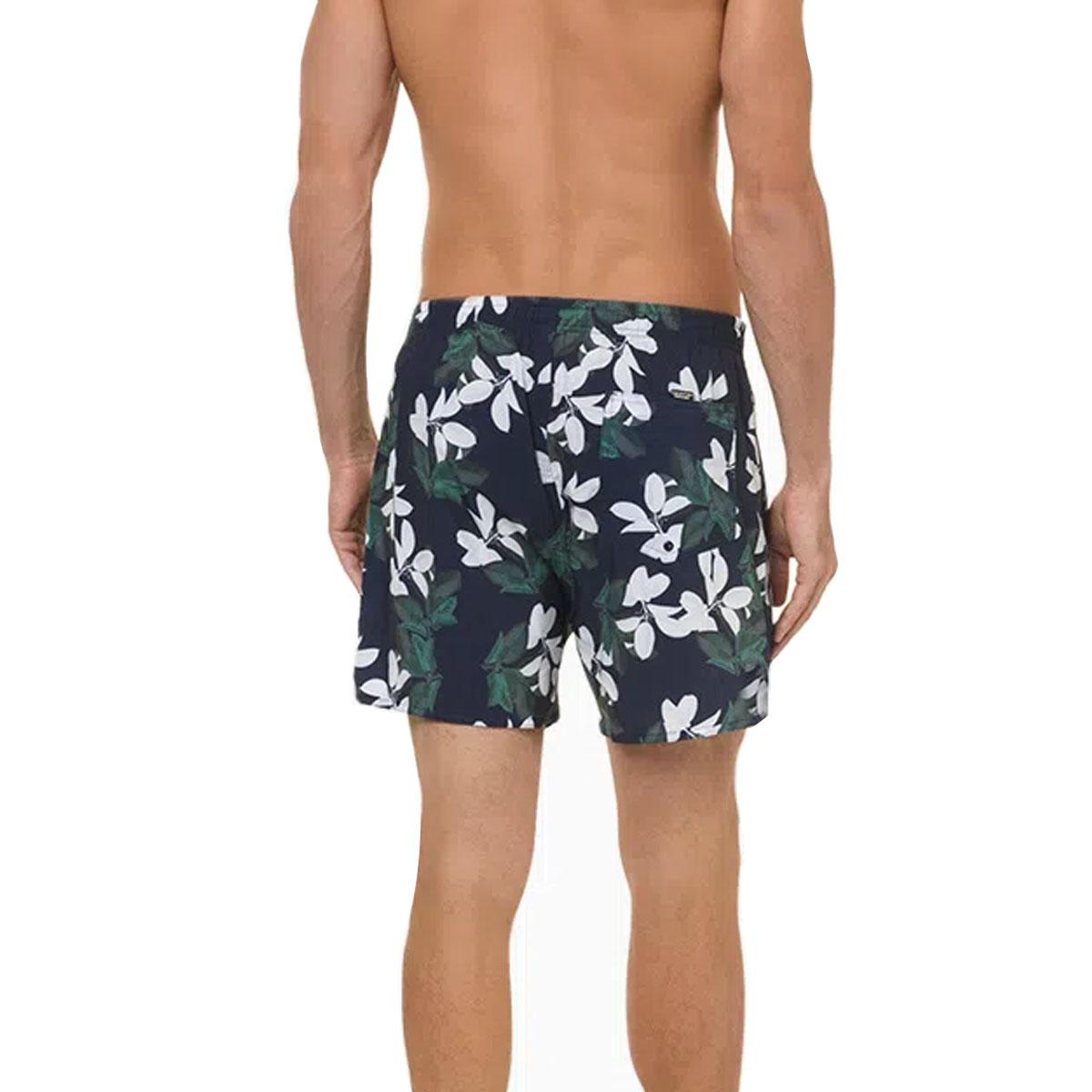 Shorts Calvin Klein Estampado Folhas Verde