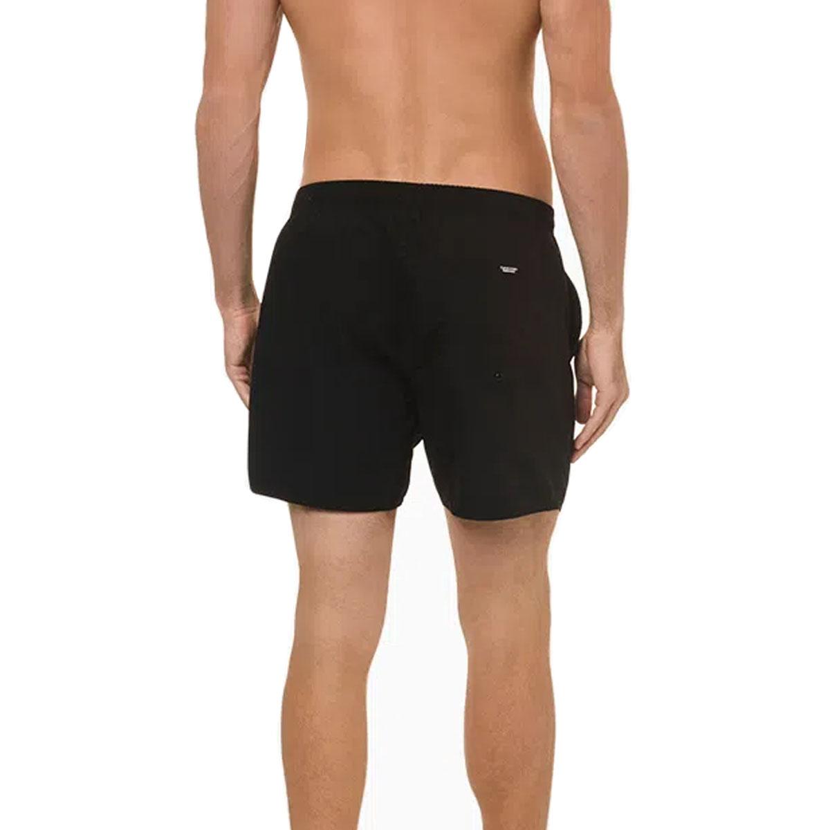 Shorts Calvin Klein liso com Logo Lateral Preto