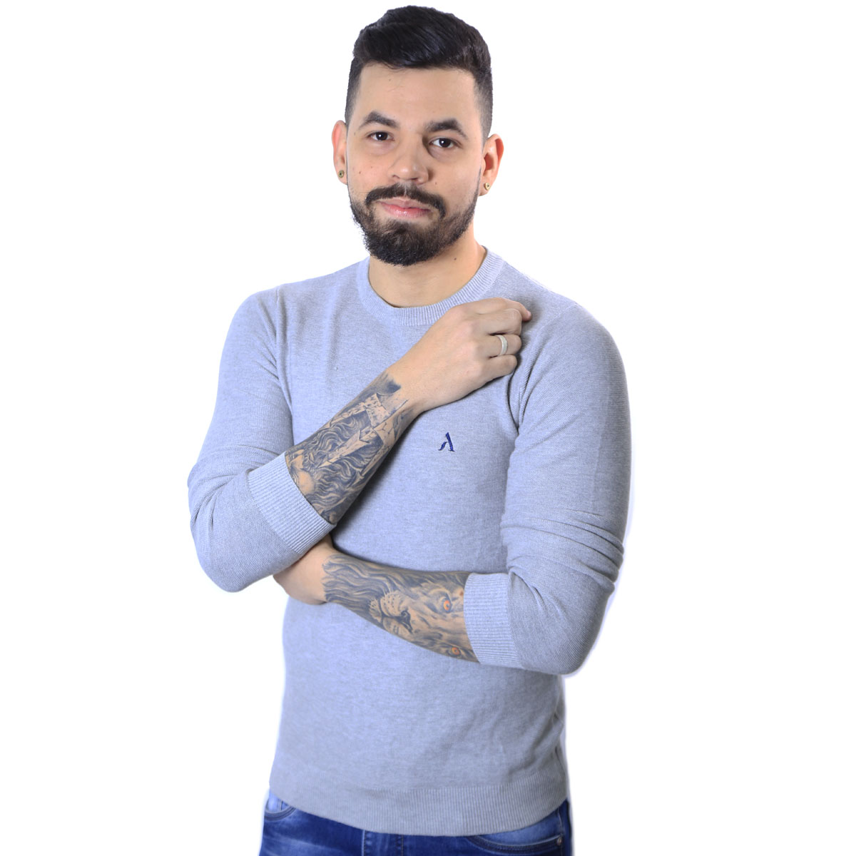 Suéter Agricio Masculino Cinza